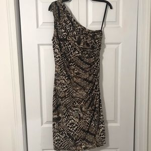 Ralph Lauren animal print off the shoulder dress